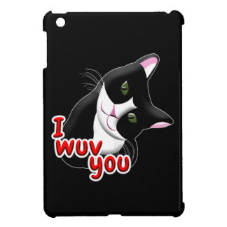 I wuv you Cat iPad Mini Cover