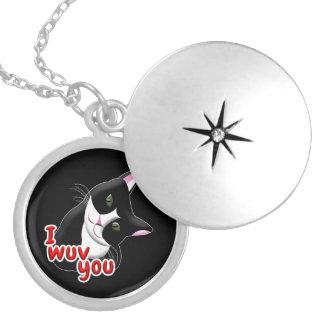 I wuv you Cat Locket Necklace