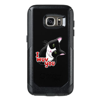 I wuv you Cat OtterBox Samsung Galaxy S7 Case