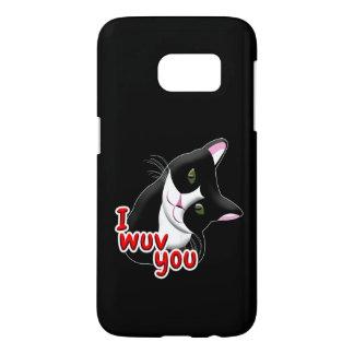 I wuv you Cat Samsung Galaxy S7 Case