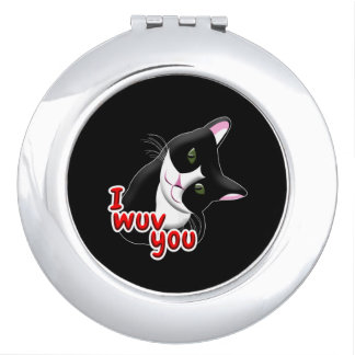 I wuv you Cat Vanity Mirror