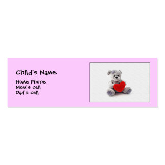 I wuv you!  child Id. Mini Business Card