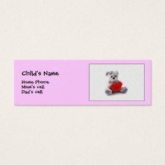 I wuv you!  child Id. Mini Business Card