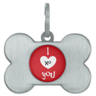 I ❤️ You pet tag by DAL