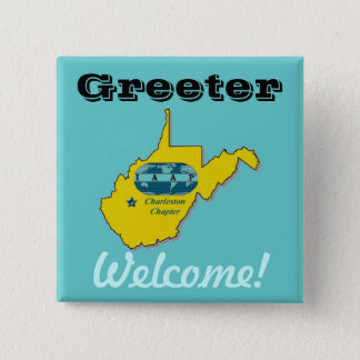 IAAP Greeter Badge 2 Inch Square Button