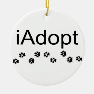 iAdopt Ceramic Ornament