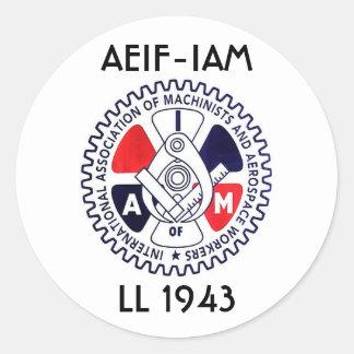 iam logo, AEIF-IAM, LL 1943 Classic Round Sticker