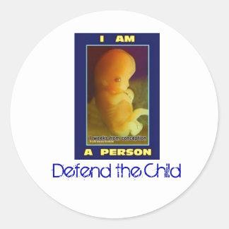 IamaPerson3, Defend the Child Round Sticker