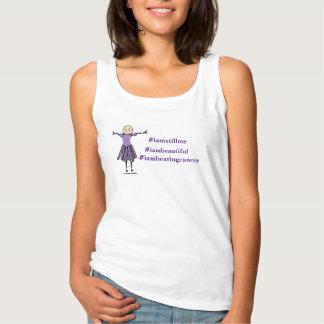 #iamstillme #iambeautiful #iambeating cancer tank top