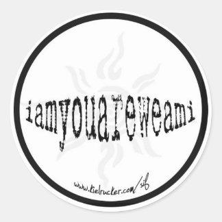 iamyouareweami (round) round sticker