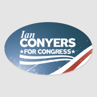 Ian Conyers Oval Sticker