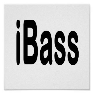 ibass music design black text poster