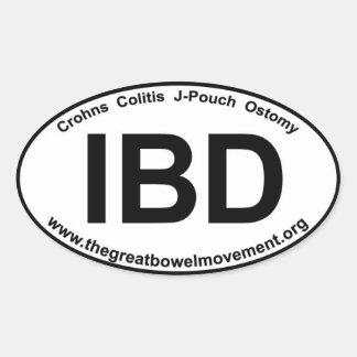 IBD - Crohns Colitis- Oval Sticker