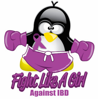 IBD Fighting Penguin Standing Photo Sculpture
