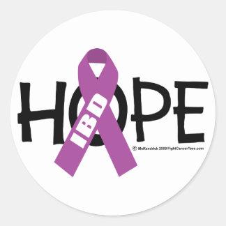 IBD Hope Round Sticker