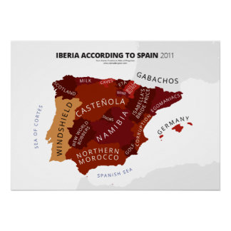 Iberia According to Spain Poster