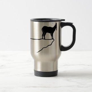 ibex capricorn Capricorn mountain goat sheep climb Travel Mug