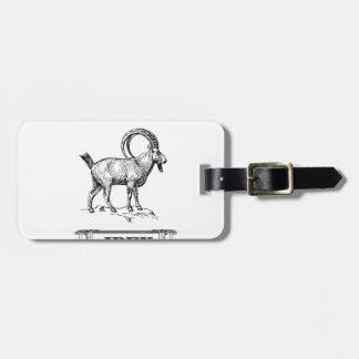 ibex fancy curl luggage tag