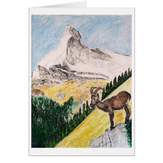 Ibex Overviewing Matterhorn Card