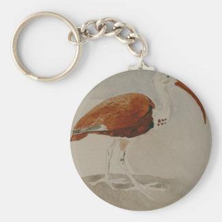 Ibis by Gustave Moreau Basic Round Button Keychain