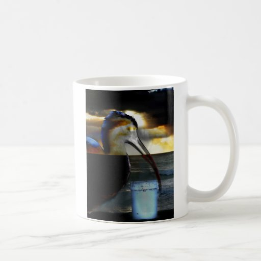 Ibis combined with sunrise picture neat design mug