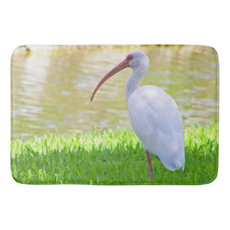 Ibis On One Leg Photograph Bath Mat