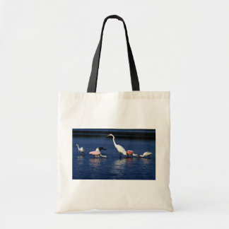 Ibis, spoonbills, great egret, blue heron and snow tote bag