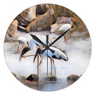 Ibis & Wood Storks Wallclock