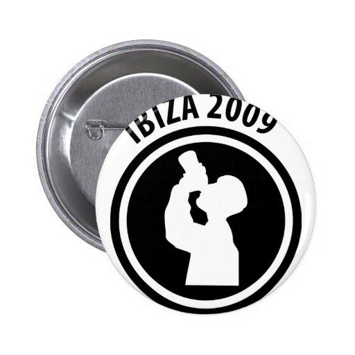 Ibiza 2009 drinker icon pin