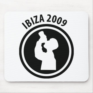 Ibiza 2009 drinker icon mouse pad