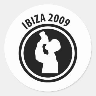 Ibiza 2009 drinker icon round sticker