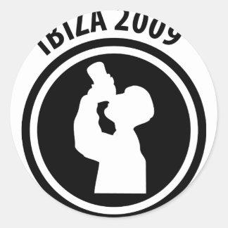 Ibiza 2009 drinker icon round stickers