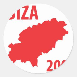 Ibiza 2009 icon round stickers