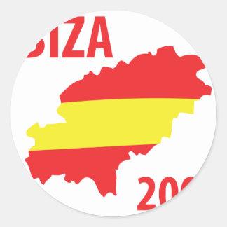 Ibiza 2009 round sticker