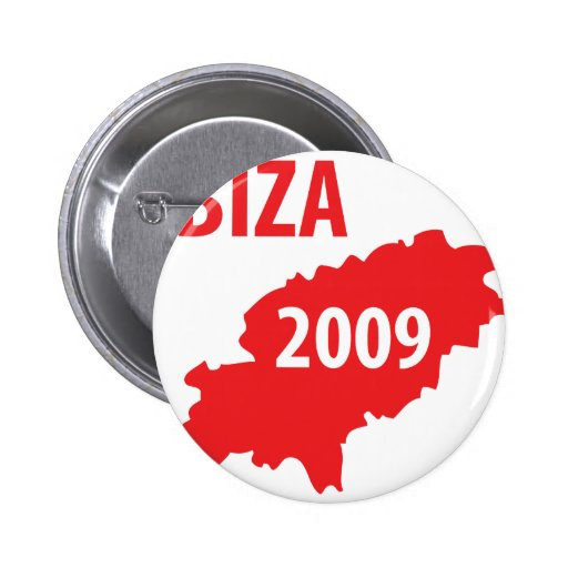 Ibiza 2009 symbol pinback buttons