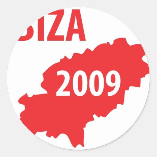 Ibiza 2009 symbol round stickers