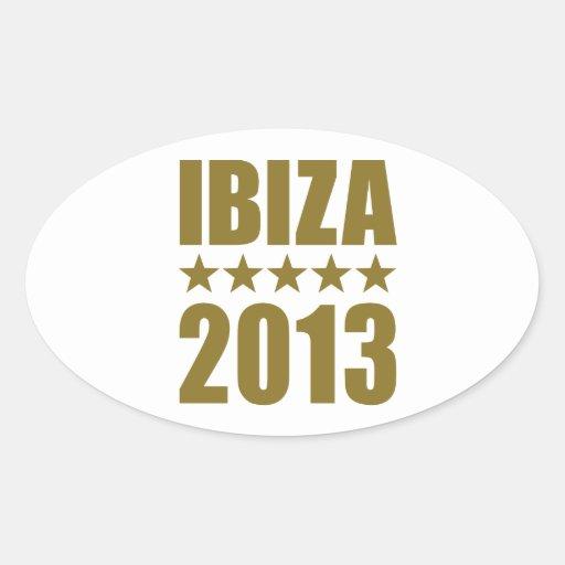 Ibiza 2013 oval sticker