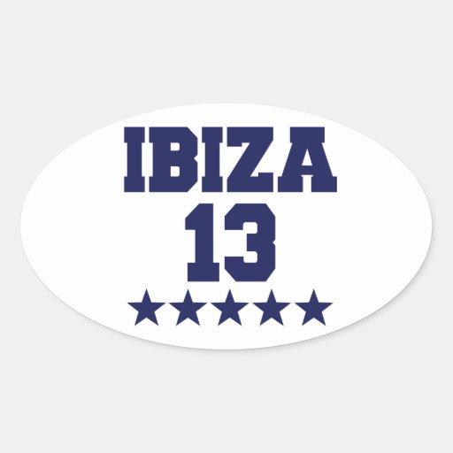 Ibiza 2013 oval stickers