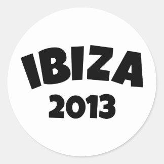 Ibiza 2013 round stickers