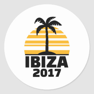 Ibiza 2017 classic round sticker