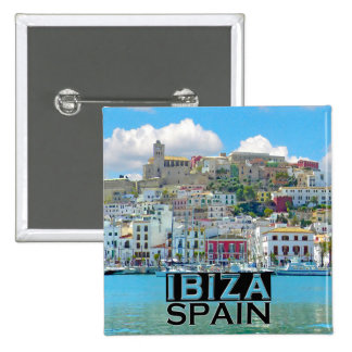 Ibiza 2 Inch Square Button