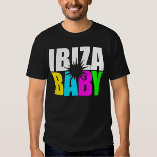 Ibiza baby bright design dj holiday house music tee shirt