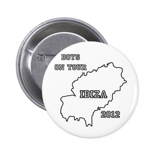 Ibiza - Boys on Tour 2012 Pinback Buttons