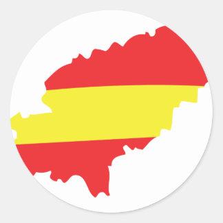 Ibiza contour flag icon round sticker