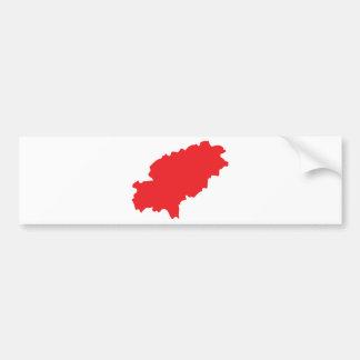 Ibiza countur icon bumper sticker