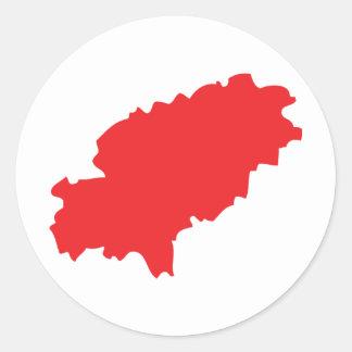 Ibiza countur icon round sticker
