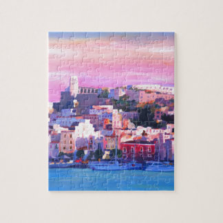 Ibiza Eivissa Old Town And Harbour Pearl Jigsaw Puzzle