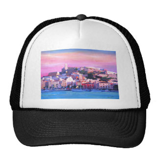 Ibiza Eivissa Old Town And Harbour Pearl Trucker Hat