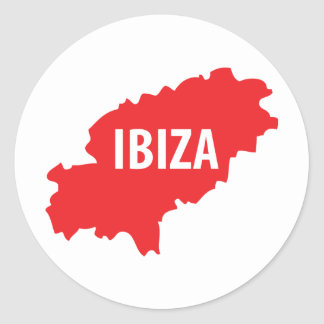 Ibiza icon round sticker