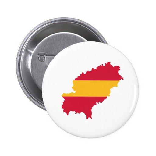 Ibiza map flag Spain Pin